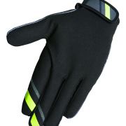 DEVO COLLEGE GLOVES - GREY NEON YELLOW - BACK