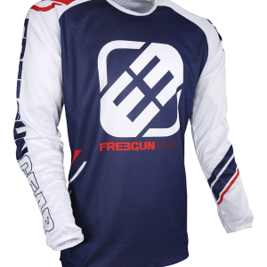 DEVO COLLEGE JERSEY - BLUE RED