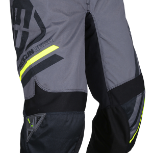 DEVO COLLEGE PANT - GREY NEON YELLOW